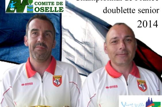 Championnat de France doublettes seniors et tête-à-tête féminin à Saint-Avold (57)