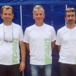 Laurent Morillon, Jean-Pierre Mas et Patrick Poujol, brillants demi-finalistes de ce premier supra national.
