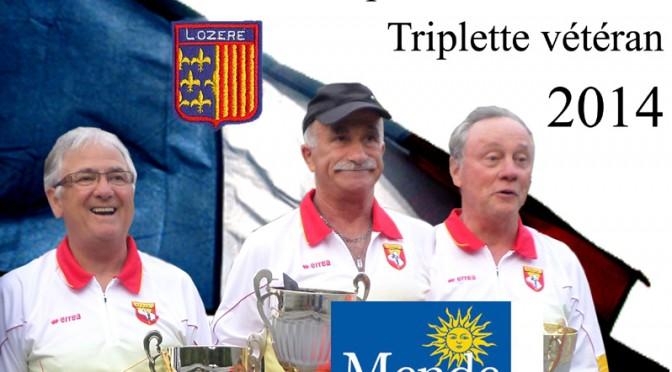 Championnat de France Triplettes Vétérans ce week-end à Mende (48)