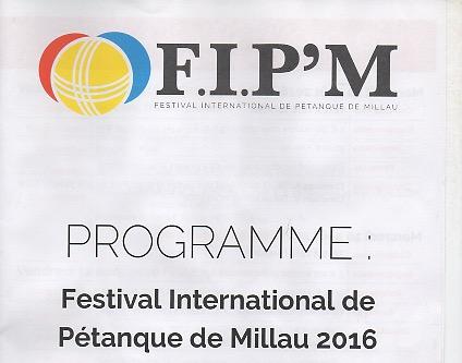 Festival International de Pétanque de Millau : Demandez le programme !