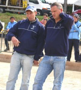 Les champions d'Aveyron Fabrice Caulet et Christophe Lagarde vainqueurs de cette 1ère édition du Grand-Prix du Monastère.