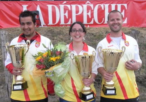 Championnat de l'Aveyron en triplettes mixtes à Sainte-Geneviève-sur-Argence